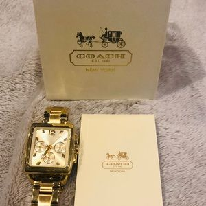Coach watch gold tone